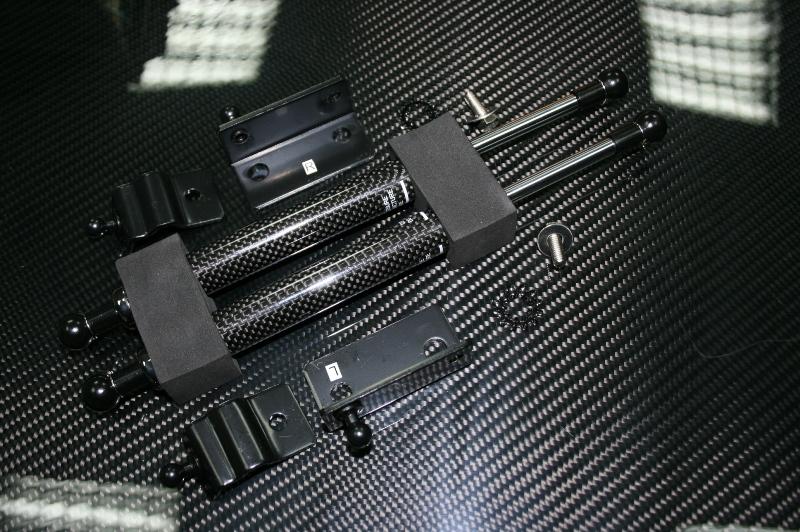EVO-R INC. Nissan 370Z Z34 Carbon Hood dampers