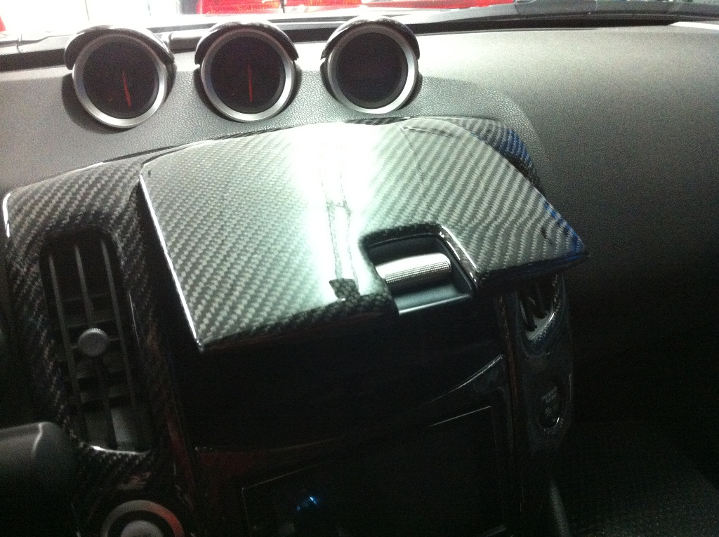 evo r inc nissan 370z z34 carbon fiber dash kit. Black Bedroom Furniture Sets. Home Design Ideas