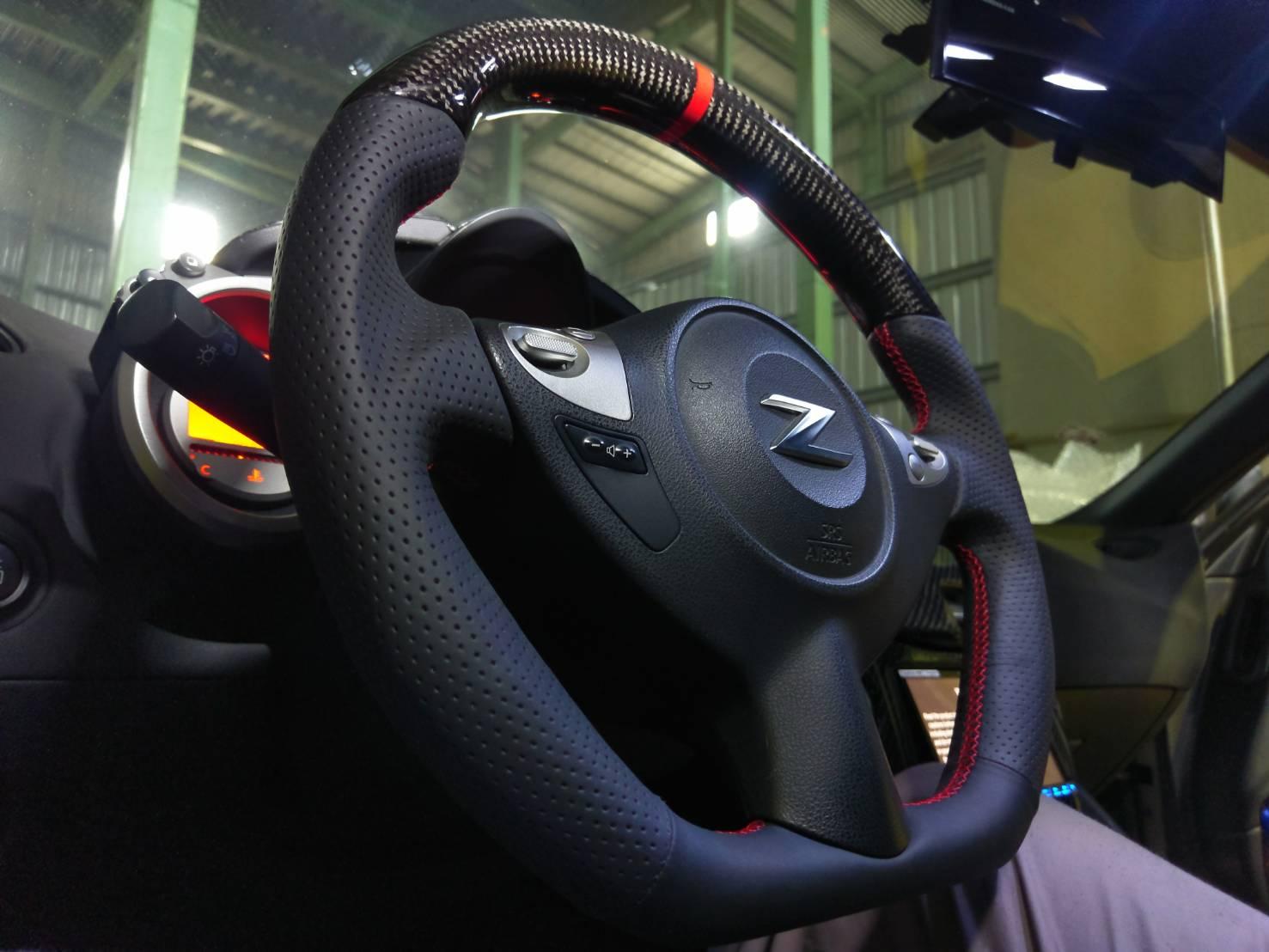 evo r 370z oem carbon leather d shape steering wheel nissan 370z forum nissan 370z forum