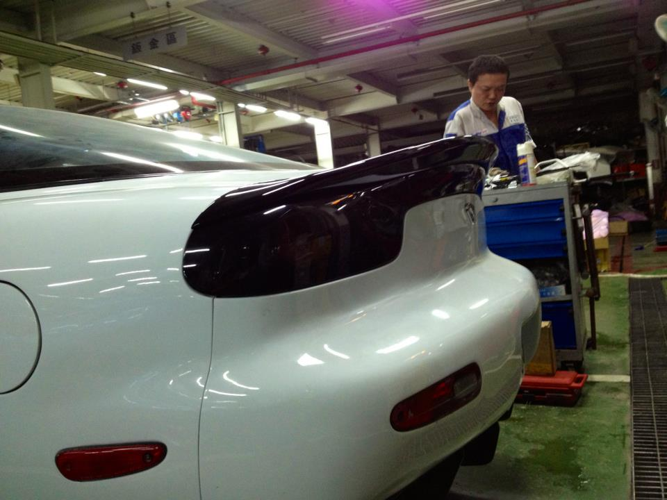 Mazda Rx-7 FD3S Rear Lip Spoiler Carbon / Flat Black