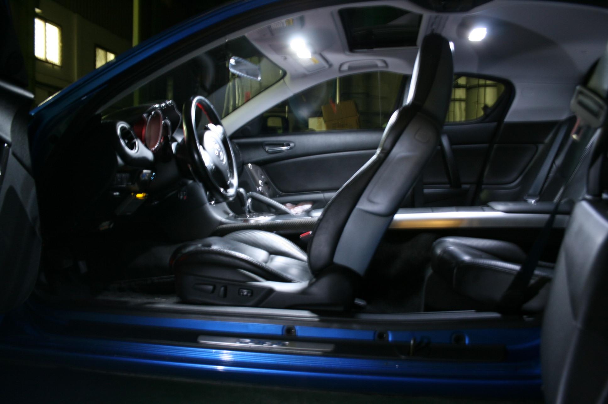 Mazda RX 8 Super White Interior LED Lights